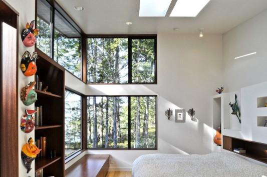 modern minimalist Lopez island residence naturally master bedroom ideas
