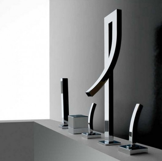 modern minimalist bathroom faucet seta collection