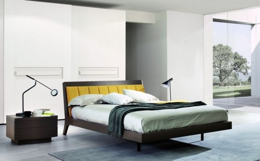 modern minimalist comfortable double beds