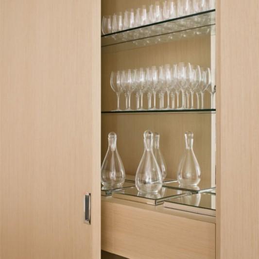 Modern Minimalist Kitchen Cabinets: Modern Penthouse Apartment Interior Design, Walsh Street