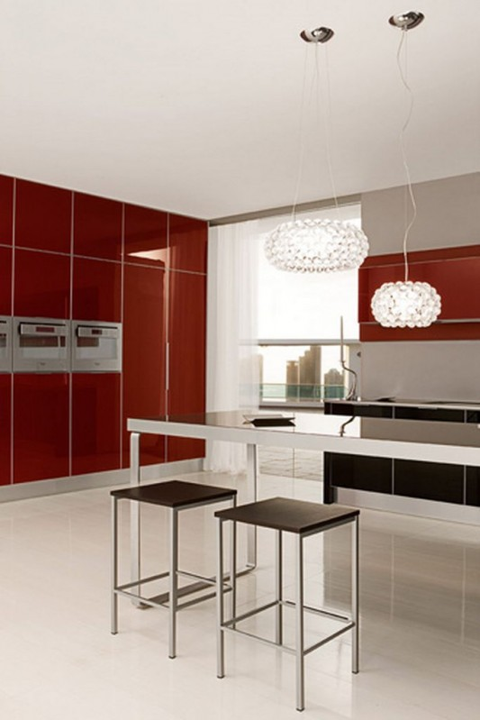 modern minimalist kitchen counter tops with stainless steel frame