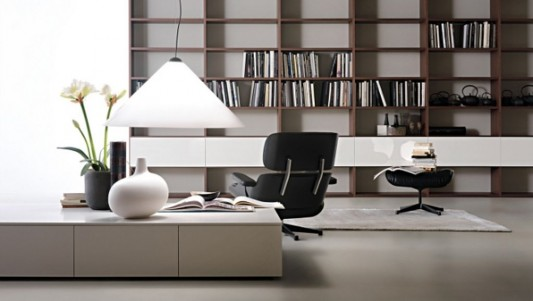 Modern Minimalist Library Room Decorating With Selecta