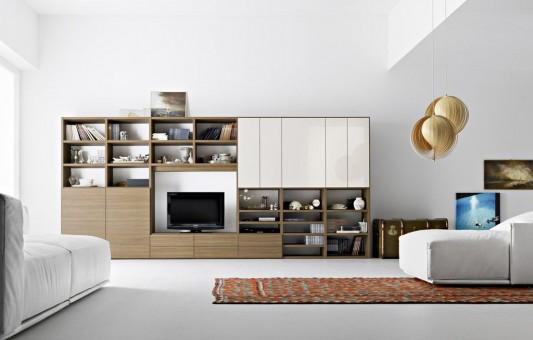 Various options furniture living room with modern design for Minimal home mobili