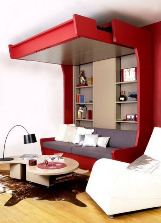 Extra bed design decorating ideas for limited space by for Minimalist small bedroom ideas