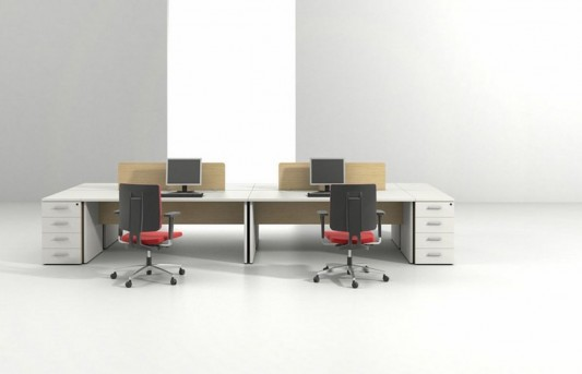 modern minimalist office desk and storage design