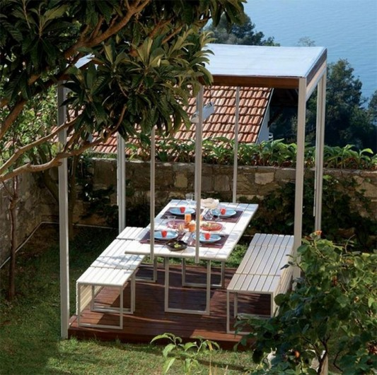modern minimalist outdoor gazebo by Pircher