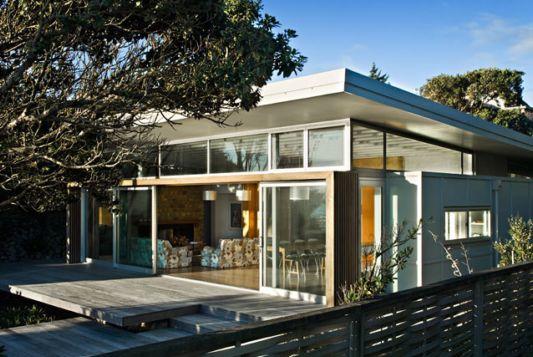 modern minimalist raumati beach house