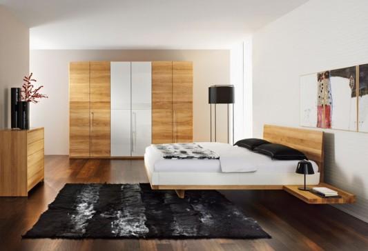 modern minimalist solid walnut bedroom furniture design
