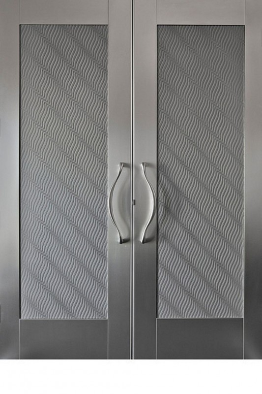 modern minimalist stainless steel door system design