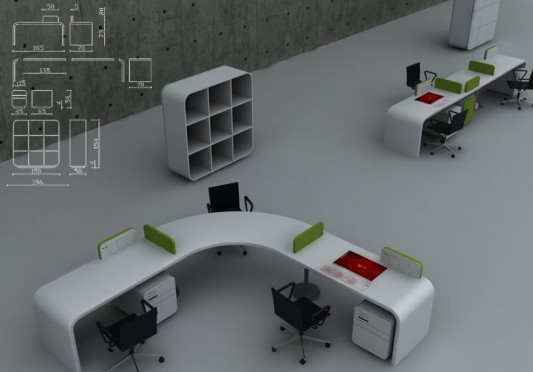 Futuristic Concept Office Desk Office Furniture Design By Fevzi Unique Office Furniture And Design Concepts