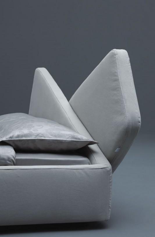 modern ribbon bed design headboard detailed
