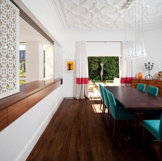 modern traditional dining room concept