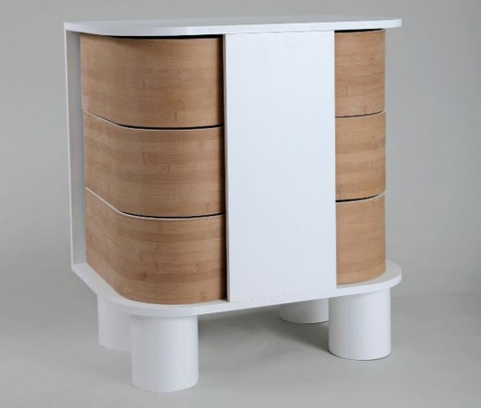 Innovative chest of drawers and cabinet by breaking the for Innovative cabinet design
