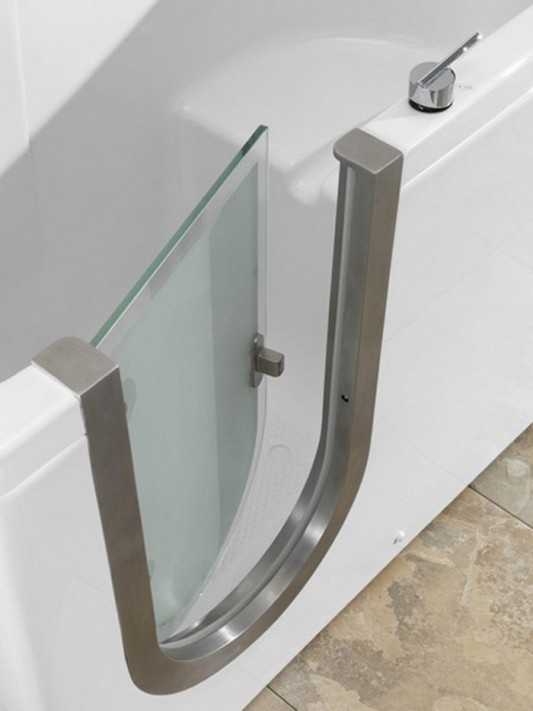 modern walk-in bathtubs with easy and safety door access