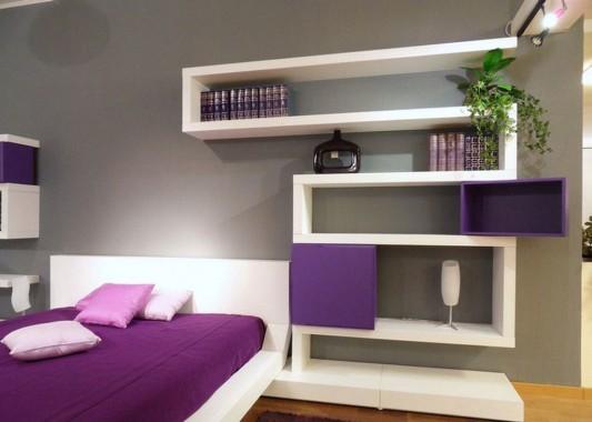 White And Violet Modern Bedroom Furniture Design By Diotti Home Design Inspiration