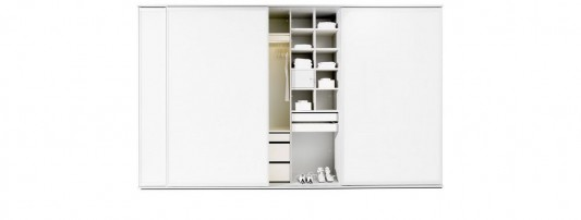 modern white lacquered sliding door wardrobes