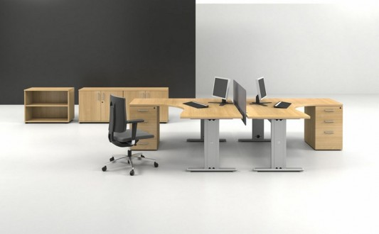 modern wooden office desk minimalist design
