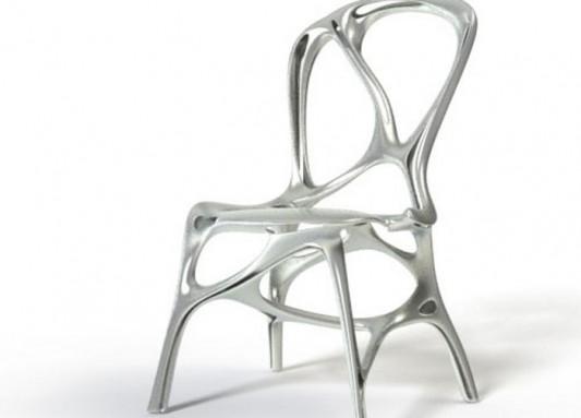 modern contemporary aluminum chair concept
