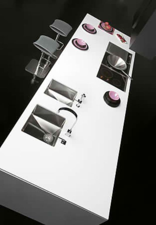 modular kitchen island ideas with high tech equipment design