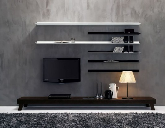 Modular Living Room Wall Unit Furniture Set