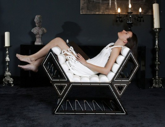 modular lounge chair with seven comfortable different position