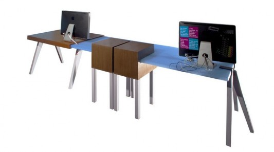 modular office desk with adjustable and- multifunction legs