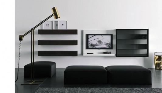 Modular Wall Mount Living Room Cabinet Modern Design