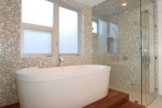 mosaic bathroom wall modern design