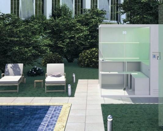 multifunction portable shower box design