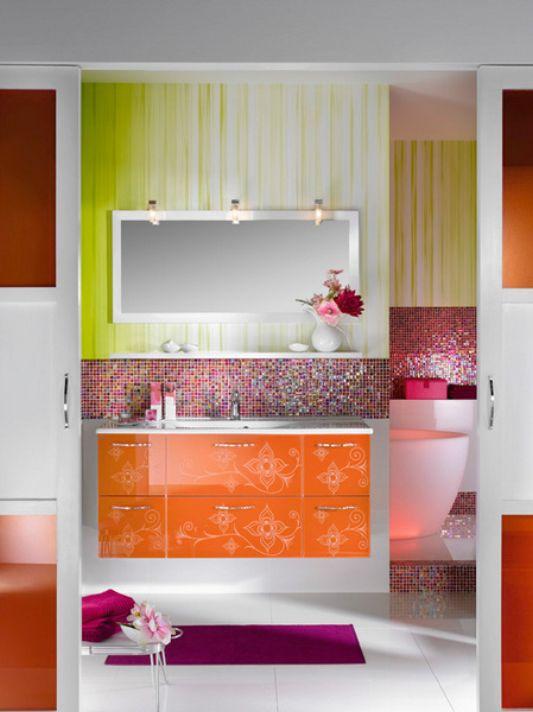 multifunctional bathroom design for teenage girl