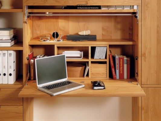 multifunctional bookcase design integrated folding study desk