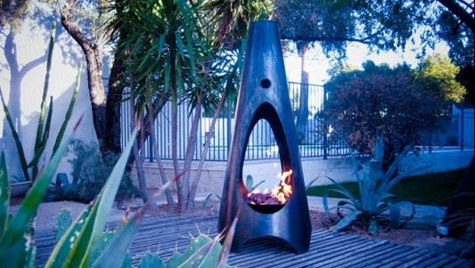 natural handcrafted outdoor fireplaces without color finish