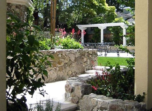 natural stone for garden walls