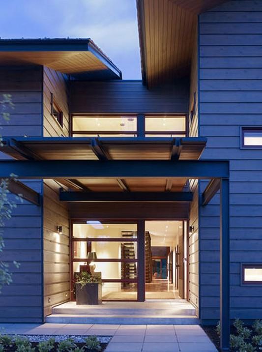 natural wooden house design door ideas