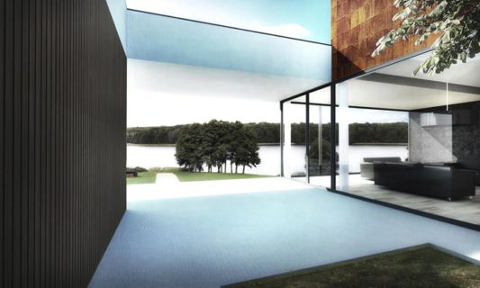 nemo house design overlooking the lake