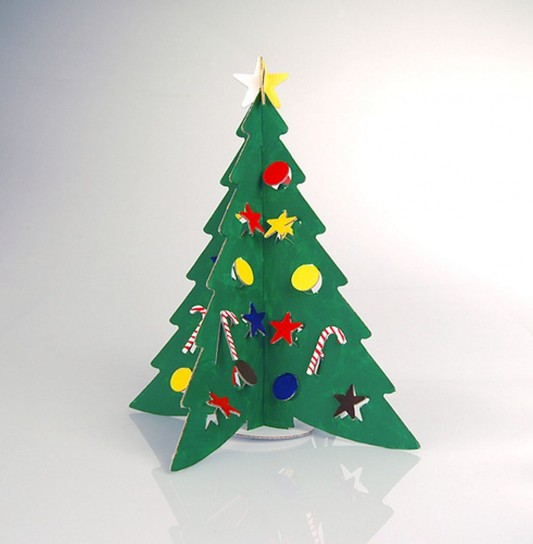 new trend cardboard Christmas tree design inspiration