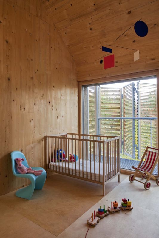 nursery design passive wooden house