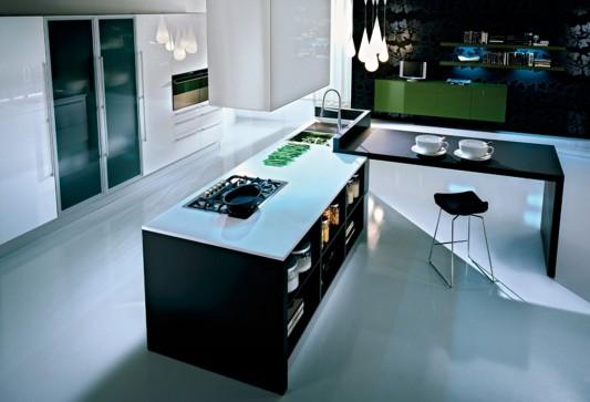 Glossy And Natural Oak Matte Laminate Dry Kitchen Modern Design Q2 By Pedini Home Design