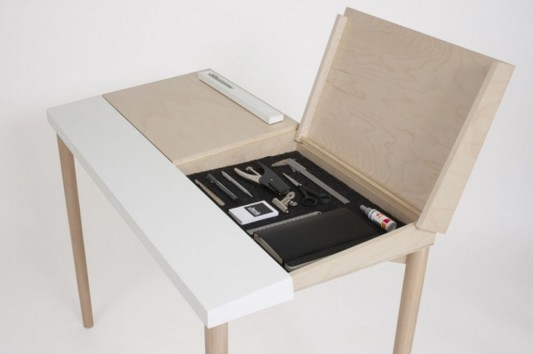 Table Hidden Storage Secret Compartment