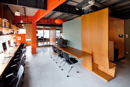 offices decorating ideas with wooden partitions