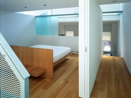 open loft apartment bedroom partition