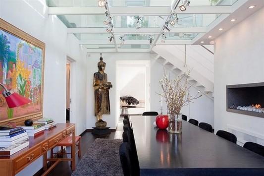 original design loft apartment dining room