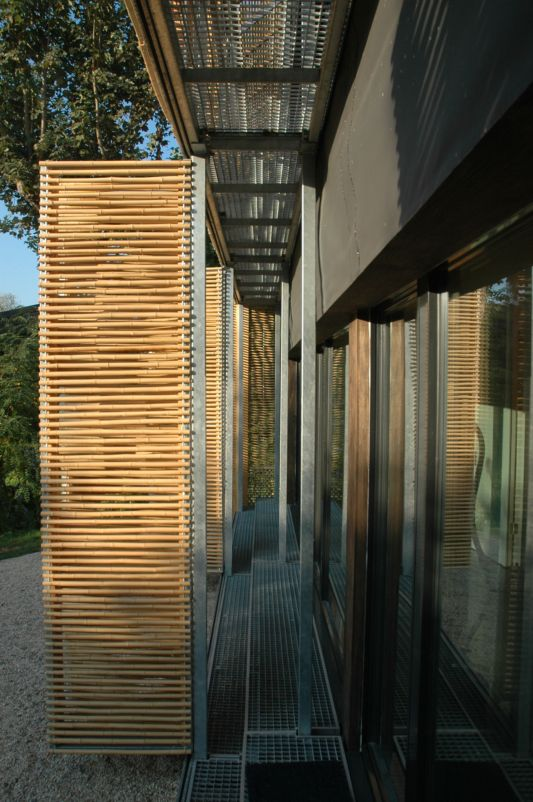 passive house with bamboo windows material