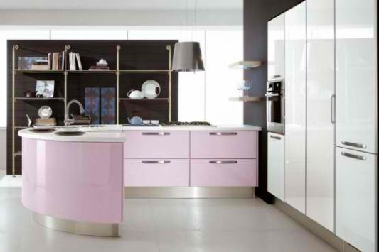 pink furniture for women's kitchen decorating ideas