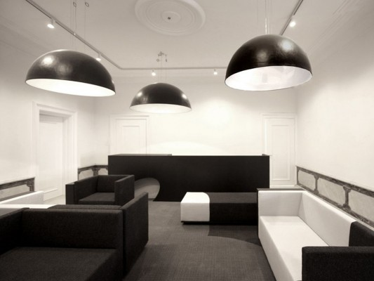 black and gold power office interior design ideas by i29
