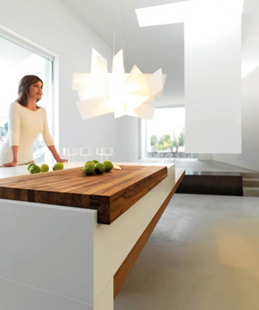 snaidero kube kitchen | Modern Kitchen with Extended Linear Shape Clear-Cut Work ...