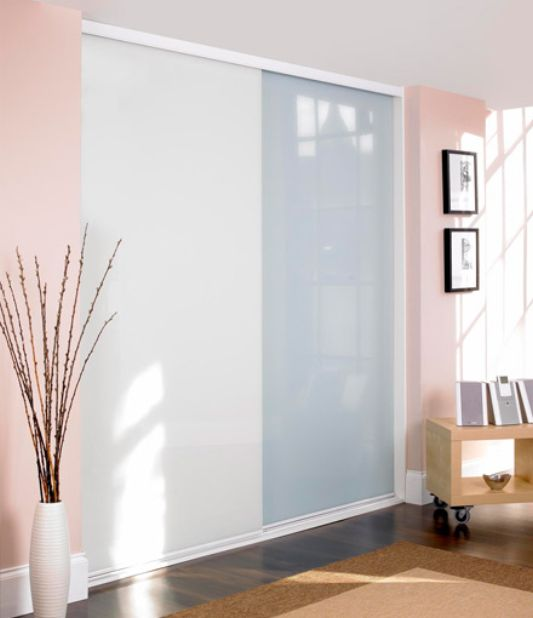 pure white and soft white sliding door wardrobe panel