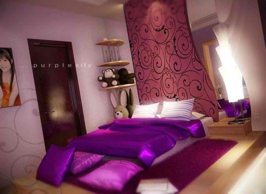 purple bed design