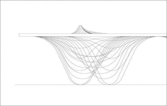 range of mountain drawing design detailed