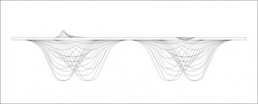 range of mountain plywood bench drawing design